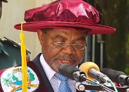 Dr. Shein akihutubia wanafunzi waliomaliza chuo kikuu cha taifa Zanzibar SUZA huko Tunguu